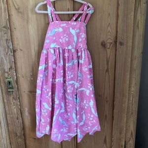 EUC Girls Tommy Bahama pink mermaid dress